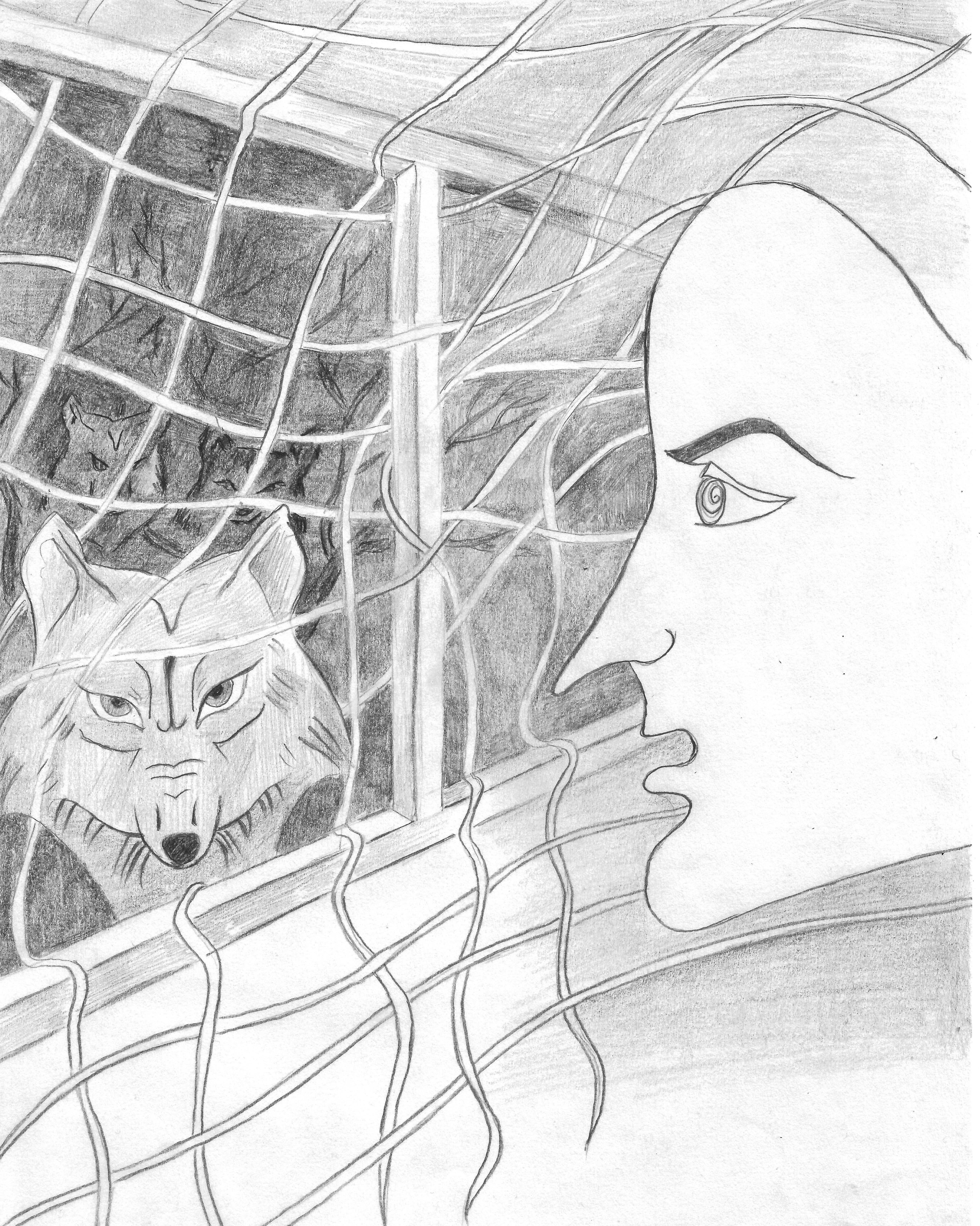 Dibujo realizado por Elodia Elisabeth Granados para la ilustración de este artículo