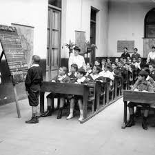 Salon de clase primaria siglo XIX